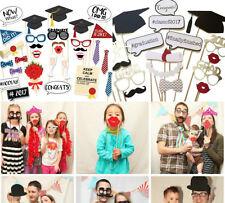 47PCS 2017 Graduation Grad Party Masks Photo Booth Props Mustache US SHIP