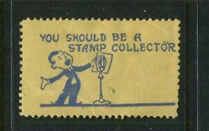 I Sing In Praise Of Stamp Collecting Seal Reklamemarke Poster Stamp