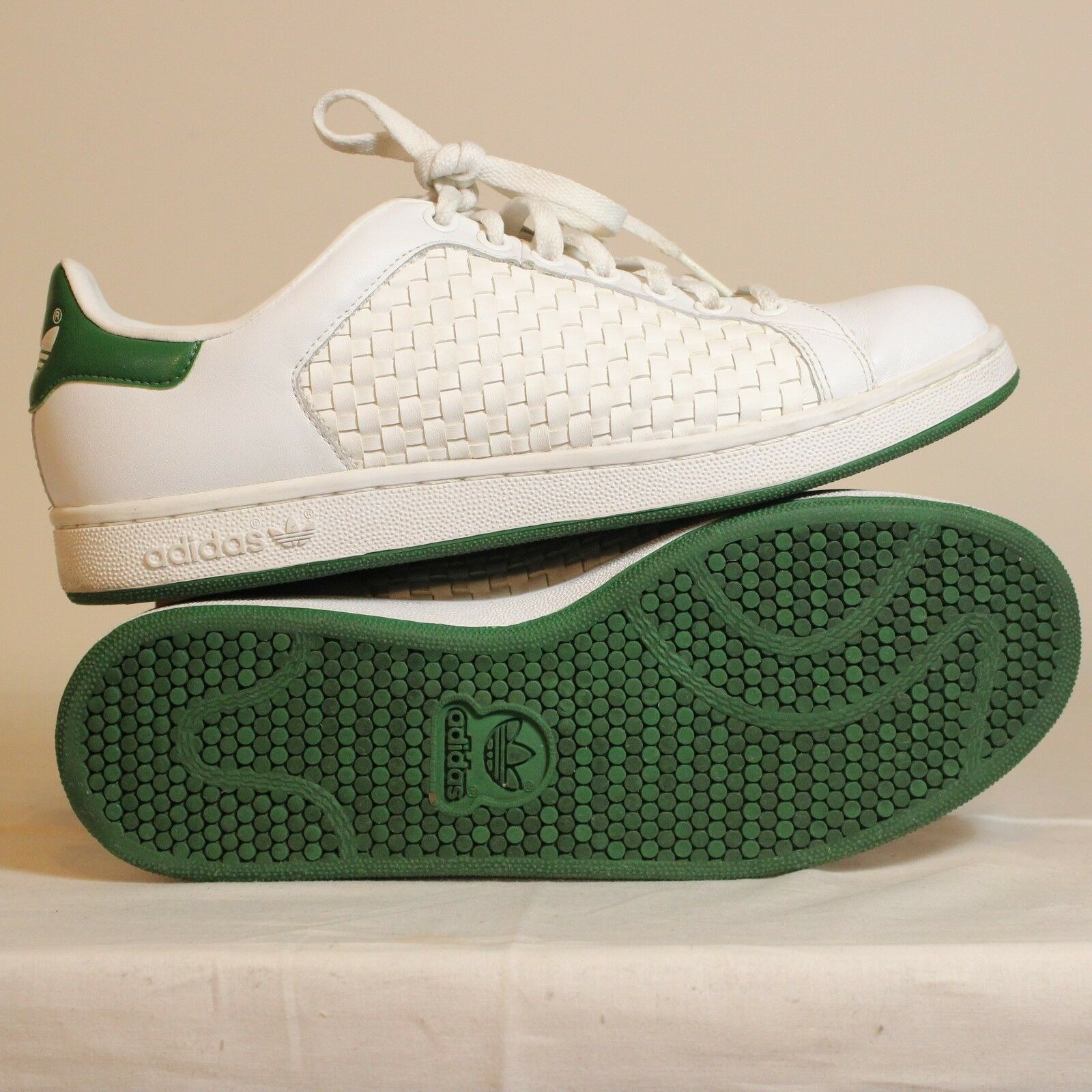 adidas (651846) stan smith weben 2 (651846) adidas männer schuhe größe 9 weiß - grüne c9d44c