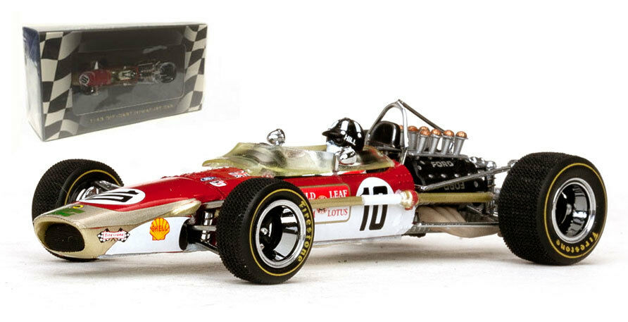 Quartzo Lotus 49   10   Hoja de oro   1968-Graham Hill F1 World Champion 1 43 Escala