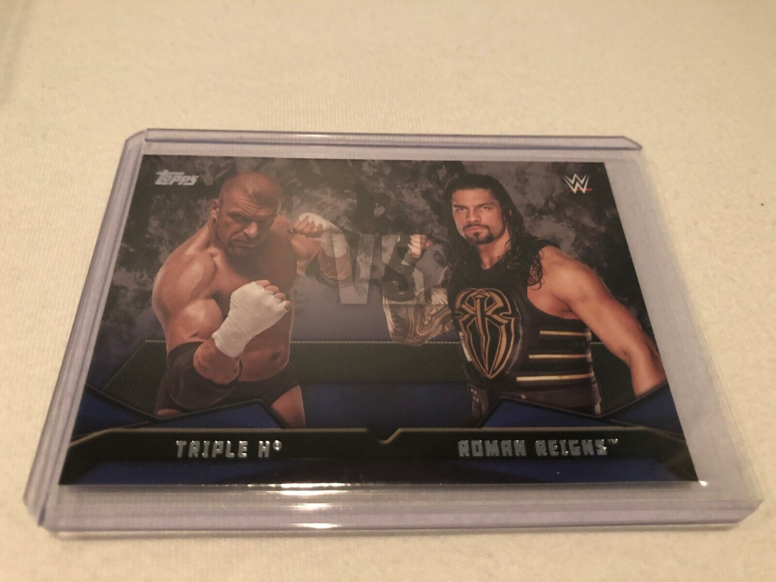 #5 AJ STYLES vs ROAMN REIGNS 2016 Topps WWE Then Now Forever WWE RIVALRIES