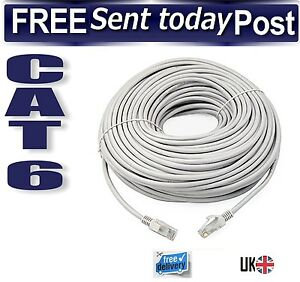 1m-to-50m-RJ45-CAT6-Ethernet-Network-LAN-Patch-Lead-Fast-Internet-Cable-Grey-Lot
