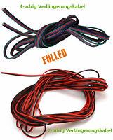10- 20m LED Stripe Kabel 2/4-adrig Verlängerungskabel Anschlusskabel Verbindung