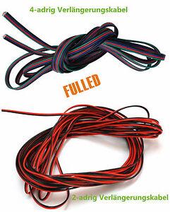 10 20m led stripe kabel 2 4 adrig verl ngerungskabel anschlusskabel verbindung ebay. Black Bedroom Furniture Sets. Home Design Ideas