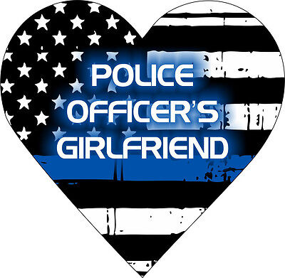 Thin Blue Line Heart Decal Law Enforcement Police Officer Sheriff Trooper Var