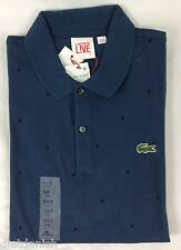 Lacoste Live Men Polo Shirt ULTRASLIM FIT Philippines Blue Black Dots EU 6 US L