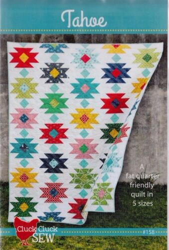 modern pieced quilt PATTERN Tahoe 5 size options Cluck Cluck Sew