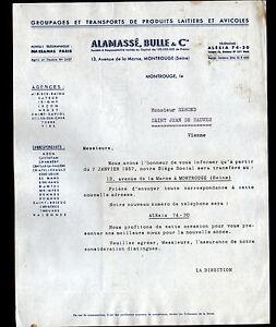 MONTROUGE-92-TRANSPORT-de-PRODUITS-LAITIERS-amp-AVICOLES-034-ALAMASSE-amp-BULLE-034-1957