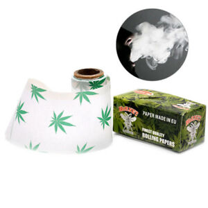 2-x-Rolls-Hornet-Hempleaf-pattern-44MM-5Meters-Rolling-Papers-Cigarette-paper