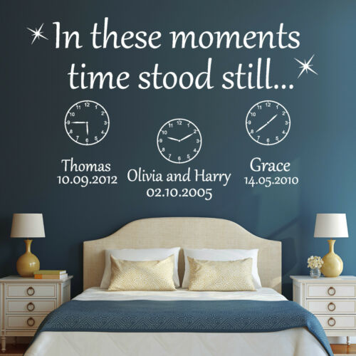 10975 Wall Tattoo Loft Wall Stickers in these moments time name birth wedding