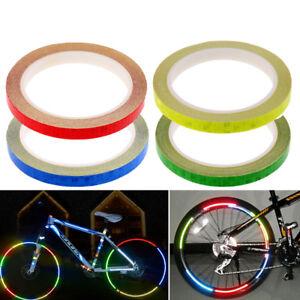 US DIY MTB Motorcycle Bike Bicycle Wheel Rim Reflective Sticker Decal Decor Tape