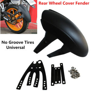 Motorcycle Rear Wheel Cover Fender Splash Guard Mudguard with Bracket Black New