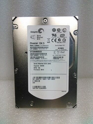 "WR712 Dell 300GB 15K  3.5/"" 3Gb//s SAS Hard Drive ENTERPRISE CLASS ST3300655SS"