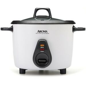 aroma 20 cup white pot style rice cooker arc 767 ngp elctric cooker new ebay. Black Bedroom Furniture Sets. Home Design Ideas