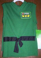 Lego Ninjago Green Costume Pajamas Boys 6/7 Lloyd Shirt Shorts Pjs Set Legos