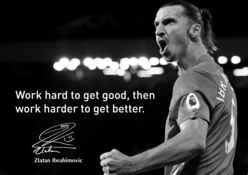 Zlatan Ibrahimovic 5 Swedish Professional Footballer Motivational Quote Poster