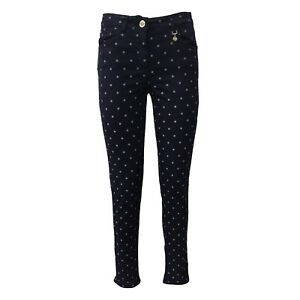 100% Vrai Pantalone Donna Blu Fantasia Pennyblack 96% Cotone Mod Ladino Vestibilita Skinny Remise En Ligne