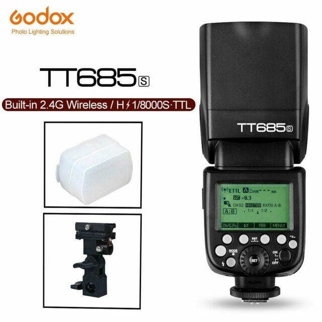 Godox TT685S 2.4G HSS TTL II GN60 Camera Flash Speedlite fr Sony+Bracket