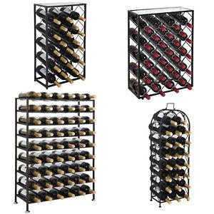 Freestanding-Metal-Wine-Rack-Four-Steel-Sizes-Models-Home-Iron-Decor-Storage