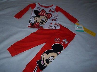 Disney Minnie Mouse Cotton Sleepsuit Bottoms Sleeppant Red