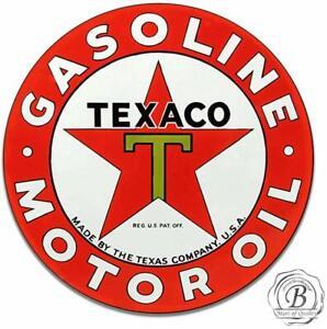 Texaco-Gasoline-Motor-Oil-Vintage-Gas-Garage-Metal-Sign