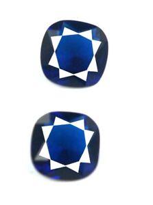 4.90 Ct Cushion Blue Sapphire Ceylon Gemstone Pair Natural AGI Certified CI50