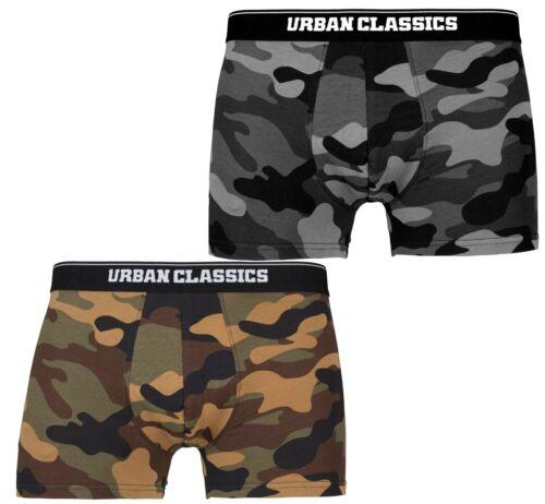 Urban Classics Camoflage Boxer Shorts 2Pack Unterwäsche Shorts Trunks Unterhose