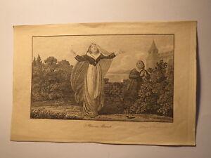 Mary Stuart-pression/livret De Famille Feuille Wiederhold Göttingen 1845 A Hartmann-afficher Le Titre D'origine