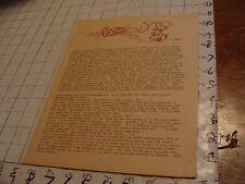 vintage Original SF Zine: LOCUS #44 Dec 17, 1969--Charlie & Dena Brown--10 pgs