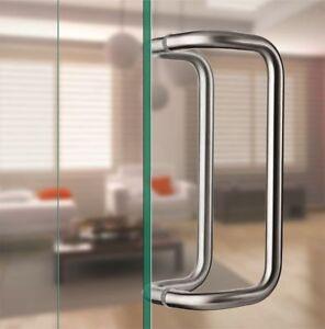 Offset/A GOMITO ACCIAIO INOX SS 304 S livello Maniglia Porta Vetro Anteriore Shop  </span>