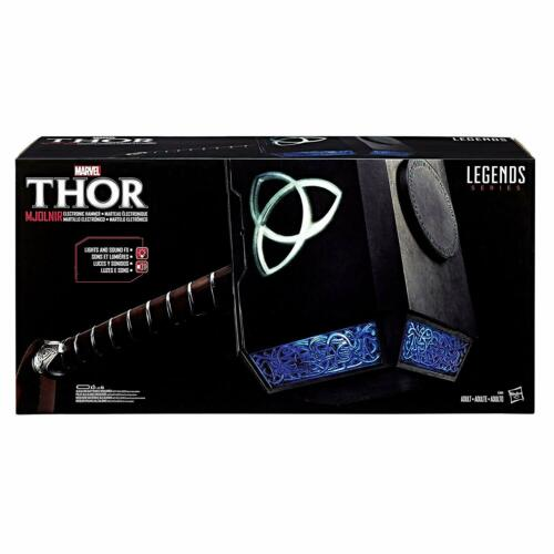 Avengers Marvel Legends Movie prop Thor Mjolnir électronique Marteau en Stock