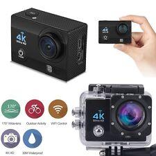 "12MP 4K FHD 1080P 2"" WIFI Sports Action Camera Video DVR DV Cam Bike Waterproof"