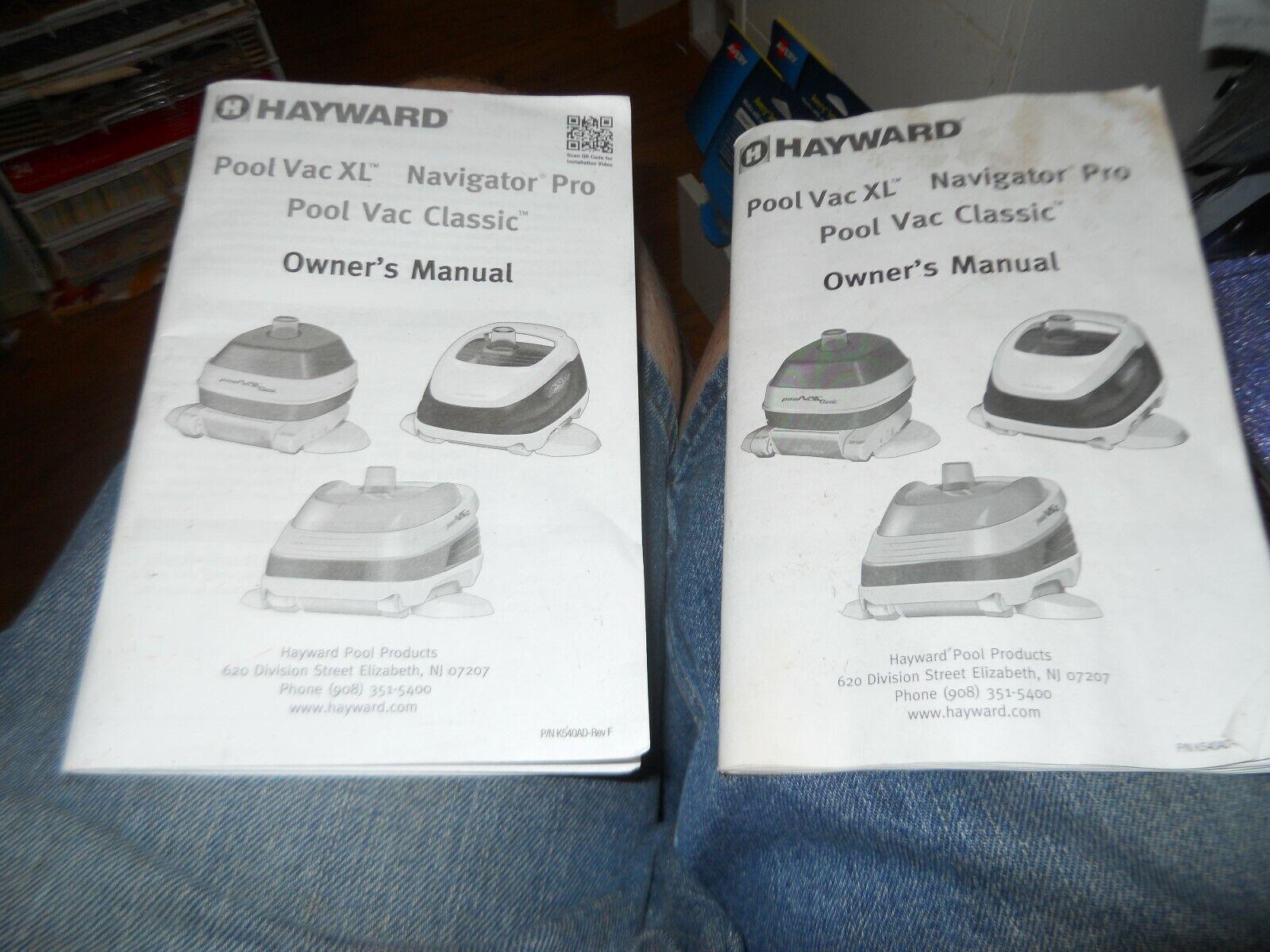 1 hayward pool vac xl navigator pro pool cleaner owners manual p/n.