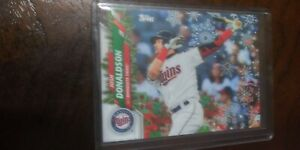 Josh Donaldson Topps Holiday 2 Card SP Lot code ending in 71 72
