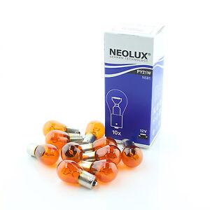 10x-Genuine-Neolux-BAU15S-PY21w-581-Amber-12v-21w-Amber-Bulbs-N581