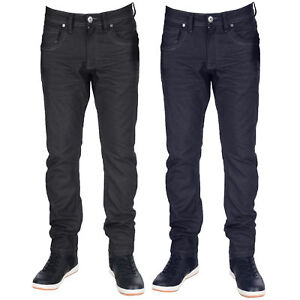 Mens-Crafted-Denim-Jeans-Crosshatch-Slim-Fit-Trousers-Menzo-Stretch-Pants-New