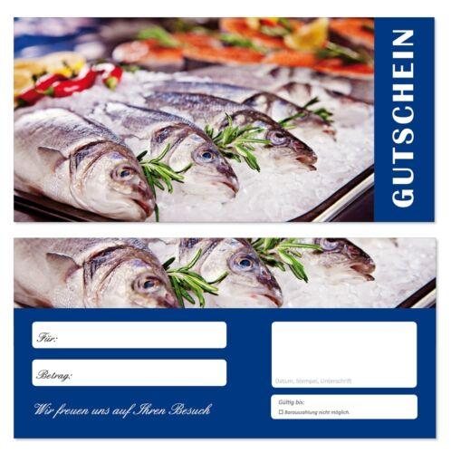 100 Geschenkgutscheine Fische-686 Gastronomie Gutscheine Restaurant Handel