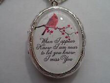 CARDINAL-WHEN I APPEAR KNOW I AM NEAR TO LET YOU KNOW I MISS YOU LOCKET