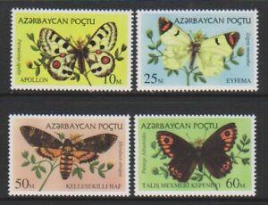 Azerbaijan - 1995, Butterflies set - MNH - SG 212/15
