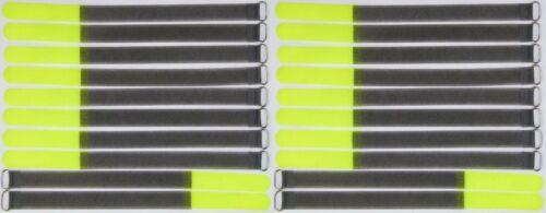 20x Serre-câbles Câble Velcro 30 cm x 20 mm Fluo jaune FK Velcro Velcro Serre-câbles