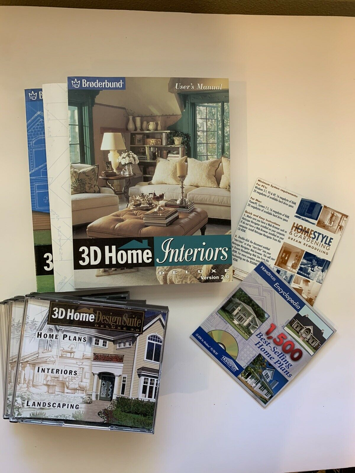 Broderbund 3d Home Design Suite Deluxe Version 3 0 Complete For Sale Online Ebay