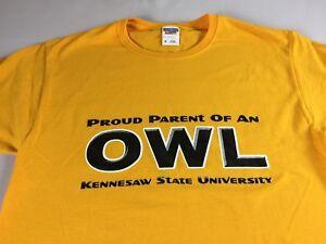 Kennesaw-State-Owls-Proud-Parent-T-Shirt-Adult-Medium-Student-Alumni-Georgia-Tee