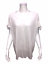 thumbnail 1 - Isaac-Mizrahi-Women-039-s-Knit-V-Neck-Top-with-Tie-Sleeves-Detail-White-Medium-Size