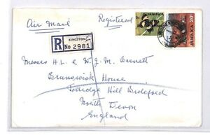 Bq158 1971 Jamaïque Kingston Devon Great Britain Airmail Cover {samwells} Pts AgréAble Au Palais