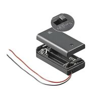 S691 - 2 Stück Batteriehalter 2x Mignon AA Batteriefach geschlossen mit Schalter