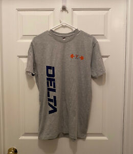 New Virginia UVA Cavaliers Football Team Issued Delta Light Gray T-Shirt Medium