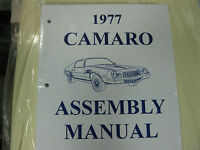 1977 Camaro (all Models) Assembly Manual