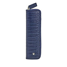 Montblanc Meisterstuck Selection 1 Leather Pen Pouch - Indigo