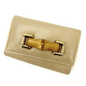 c2c0dea695cc Gucci Key holder Key case Bamboo Beige Woman Authentic Used C1303   eBay
