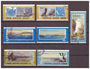 Sowjetunion-Landschaften-des-sow-Fernen-Ostens-MiNr-3304-3310-1966-used